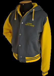 uniformes escolares casaco college cinza